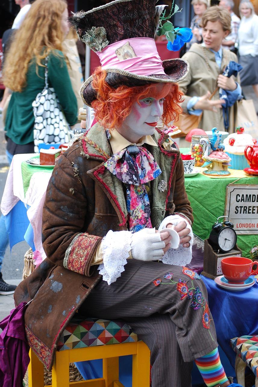 Ana De Jesus triangle London Camden market clown