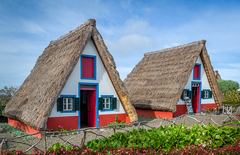 Old traditional Madeira explorer's houses at Santana - the symbol of Madeira island-1