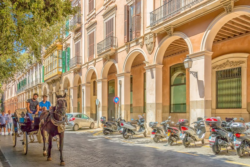 Palma Mallorca horse drawn carriage