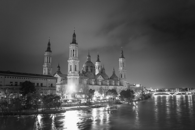 Zaragoza Spain travel guide river and city views at night
