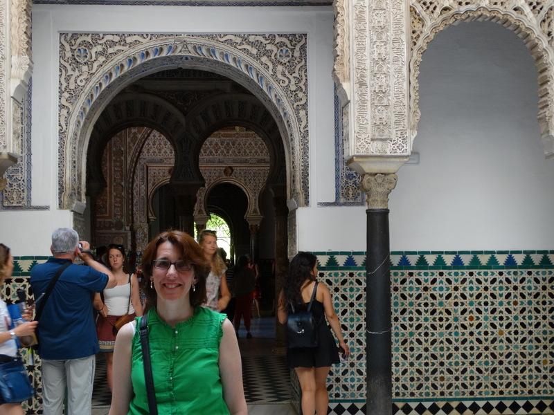 Patricia Morcillo at the Patio de las Doncellas Reales Alcazares Sevilla