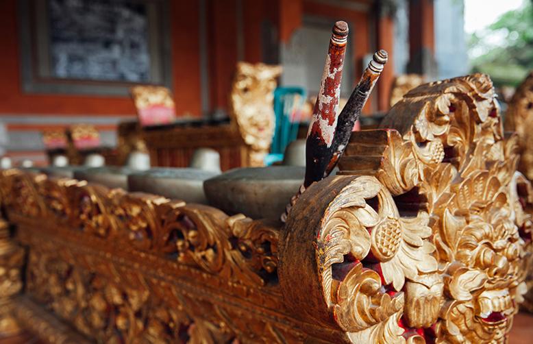 Ubud, Bali, Indonesia-Traditional balinese percussive music instruments