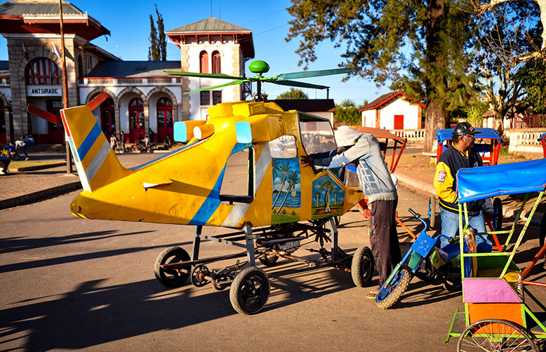 Antsirabe rickshaws street motorised toys