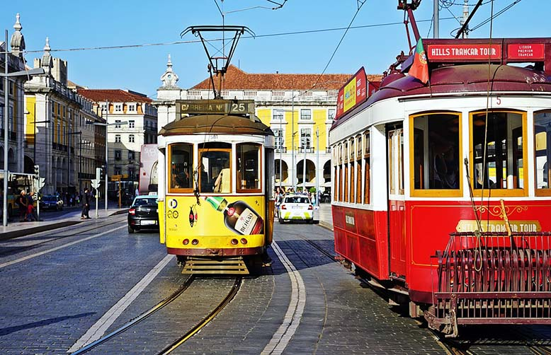 Lisbon Portugal trams
