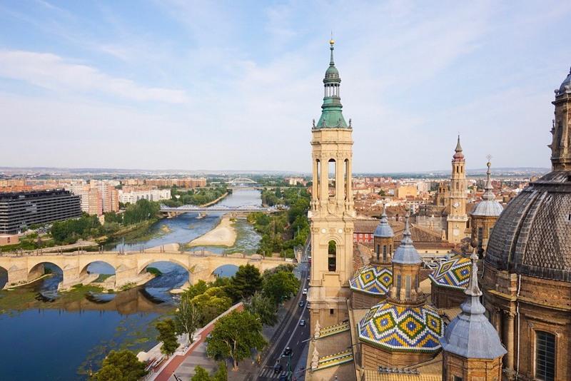 Zaragoza Spain Basilica del Pilar Ebro river by Ellie Quinn