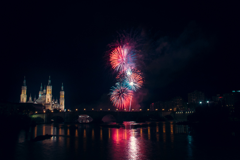 Zaragoza Spain fiestas of Pilar