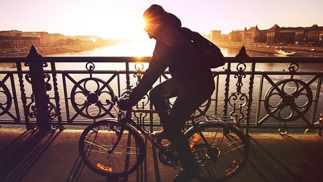 cycling holiday sunset bridge