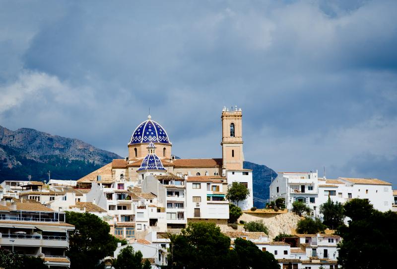 Altea Spain Spain Views Towards The Mountains