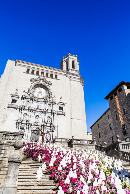 Girona Cathedral during Girona Temps de Flors-Time of the Flowers