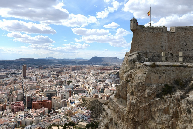 Spain beautiful cities-Santa Barbara fortress in Alicante Spain ed