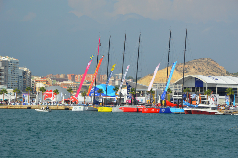 Spain top cities Alicante 2014-2015 Volvo Ocean Race - held every 3 years - established in 1973- opening day. Alicante, Oct 5, 2014