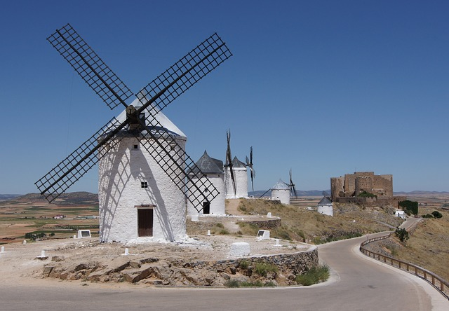 Spain top cities-Consuegra Beautiful City Spain Windmills