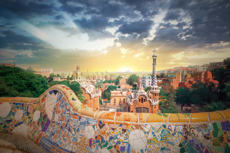 Spain top cities Parc Guell Barcelona