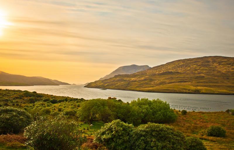 Sunset in Killary Fjord Connemara ireland
