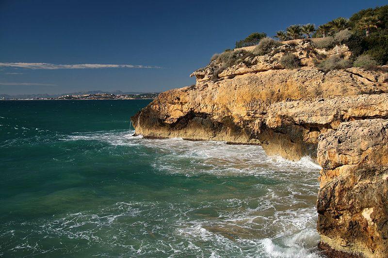 Tarragona Spain coast Punta de la Mora