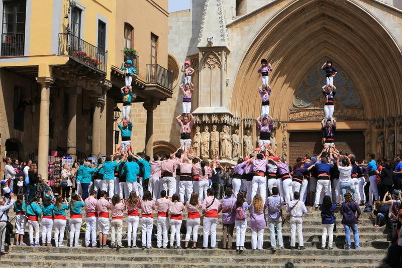 Tarragona Spain human castles