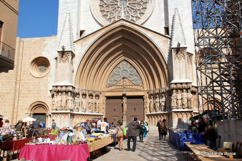 Tarrragona Spain Cathedral And Flea Market