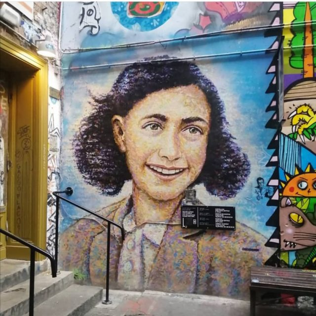 Anne Frank Zentrum Mural Berlin by Sarah Barrett