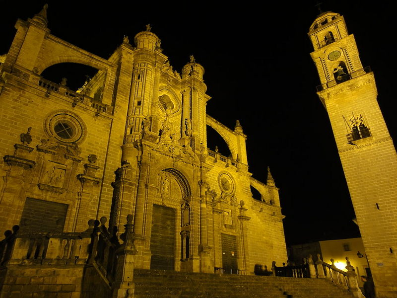 Spain best cities-Jerez de la Frontera Cathedral at night