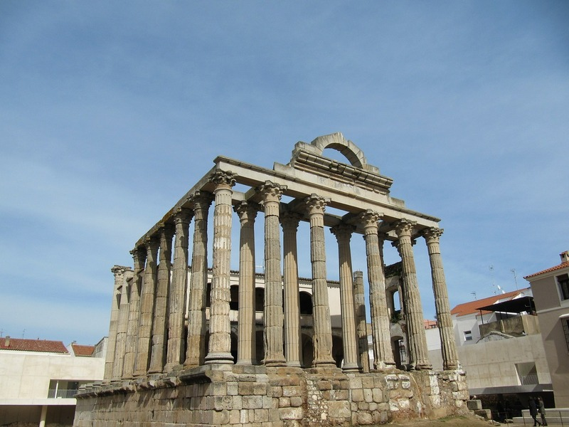 Spain best cities-Merida Temple of Diana