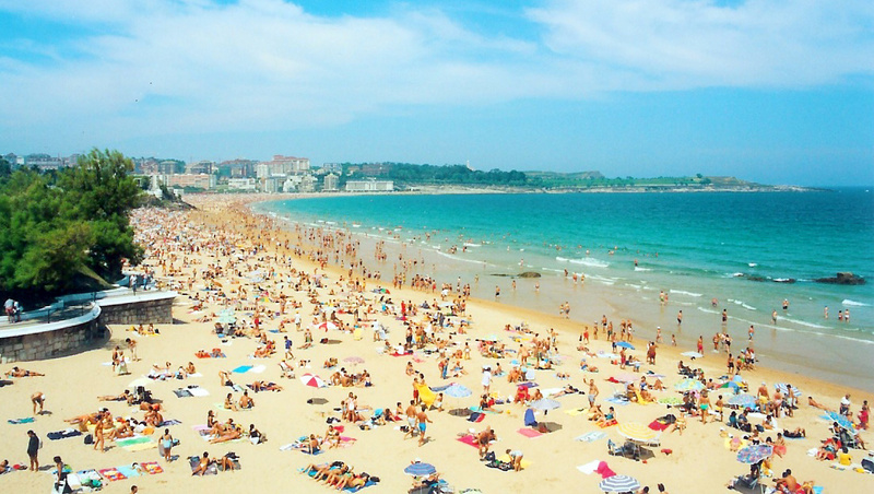Spain best cities -Santander Spain Beautiful Cities El Sardinero Beach
