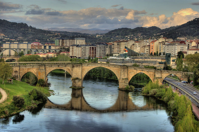 Spain top cities-Ourense Roman Bridge Spain