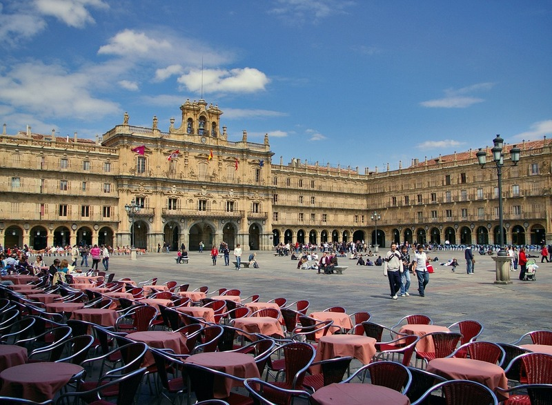 Spain top cities-Salamanca Plaza Mayor Spain