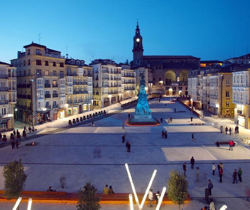 Spain top cities-Vitoria Spain Plaza de la Virgen Blanca