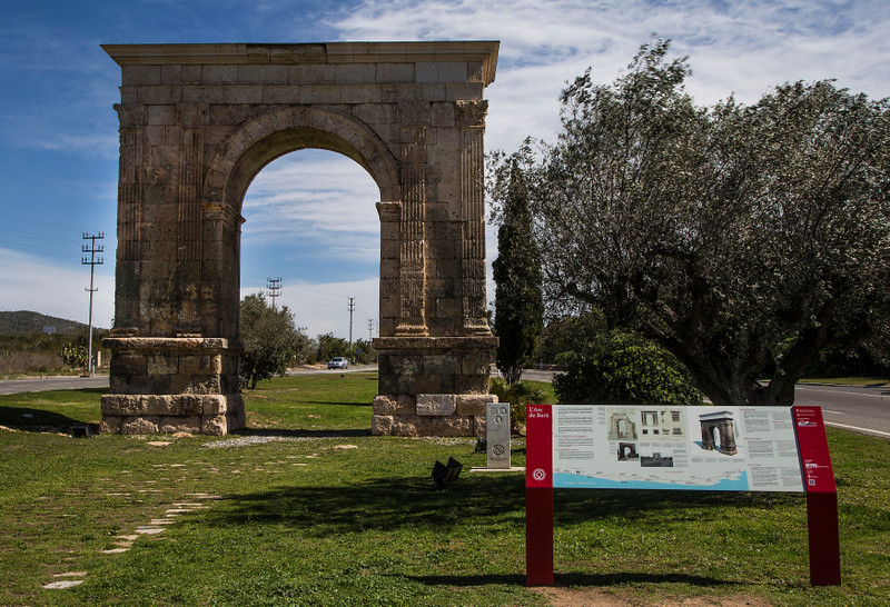 Tarragona Spain Roman Route Bera Arch
