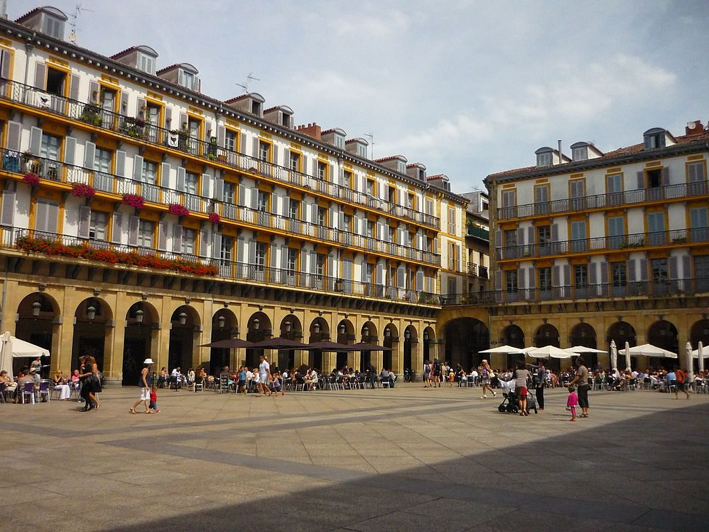 best cities Spain-San Sebastian Spain Plaza de la Constitucion