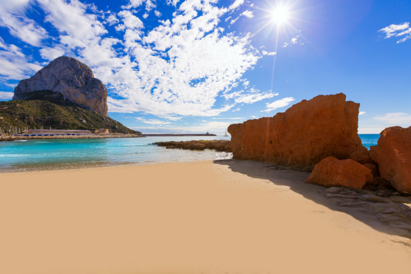 Spain best beaches-Calpe Cantal Roig Beach Costa Blanca
