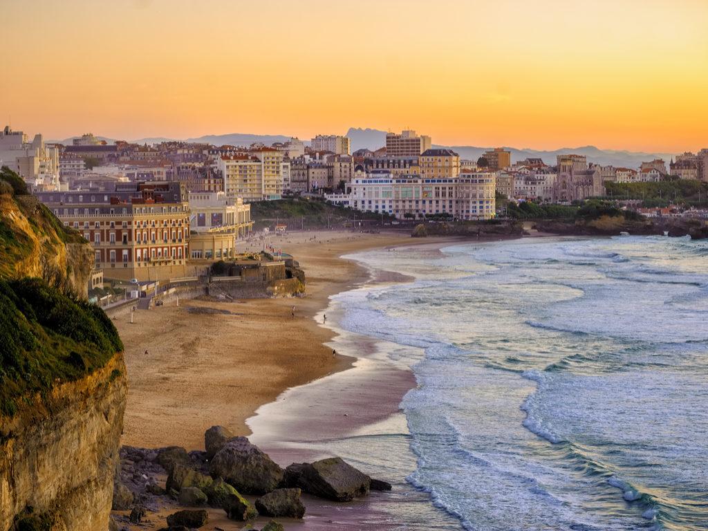 Biarritz France travel beaches Miramar and La Grande Plage