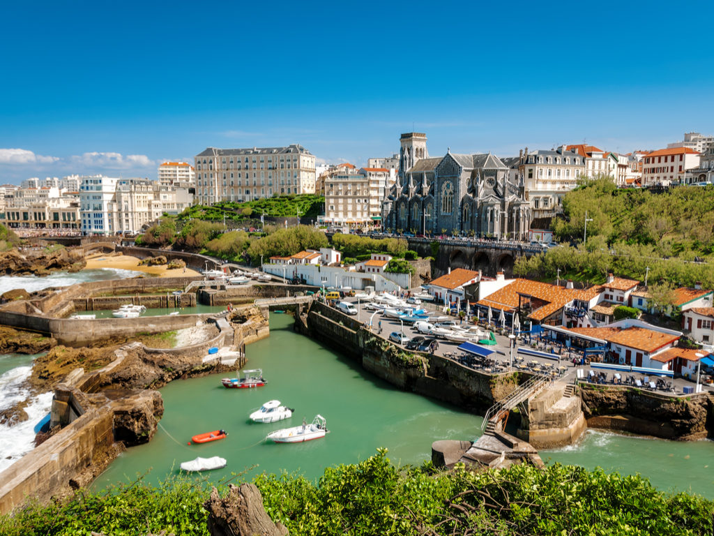 Biarritz holidays church and harbour