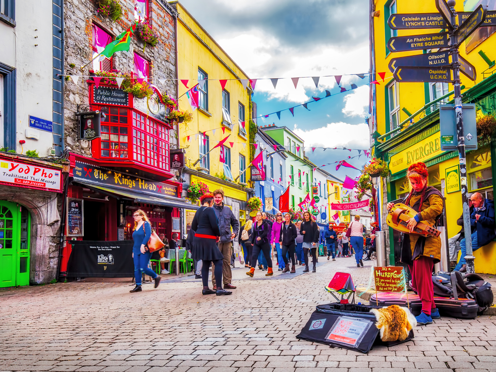 Galway city colourful street By C.Echeveste