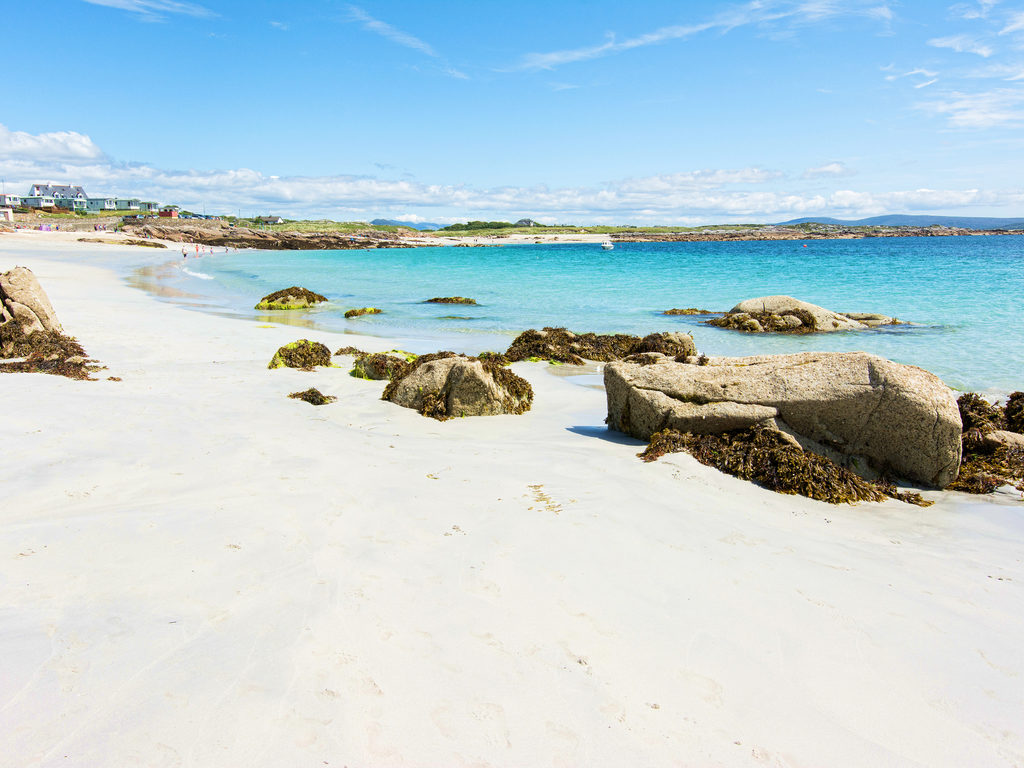 galway ireland beautiful towns Roundstone white sandy beach