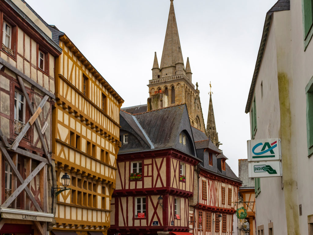 Auray Brittany travel wooden houses in historic centre