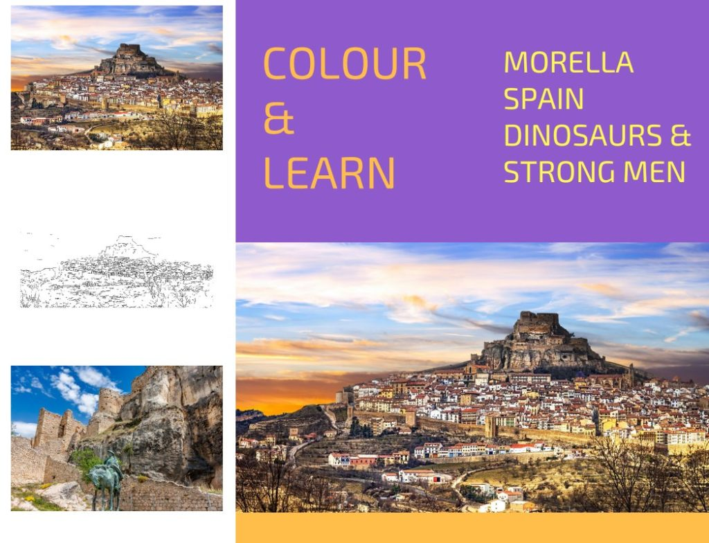 Morella Spain free colouring page Travel Inspires