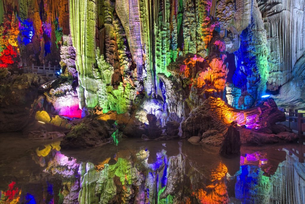 Yangshuo in Guilin, China caves, karst landforms