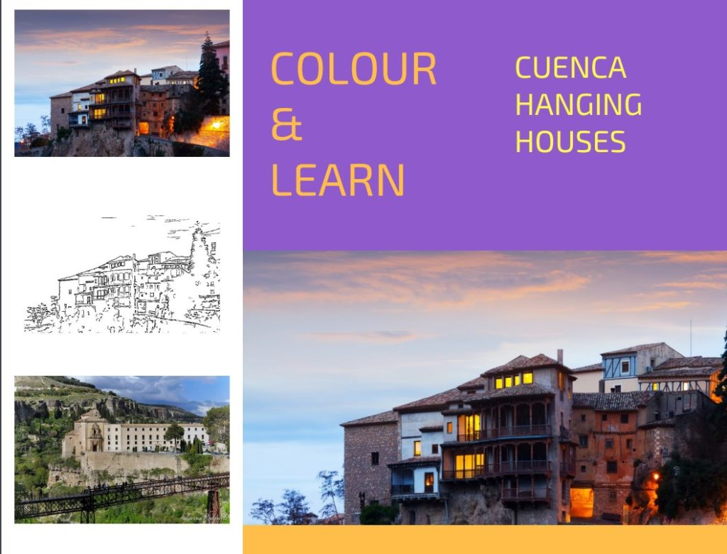cuenca hanging houses free colouring page travel inspires
