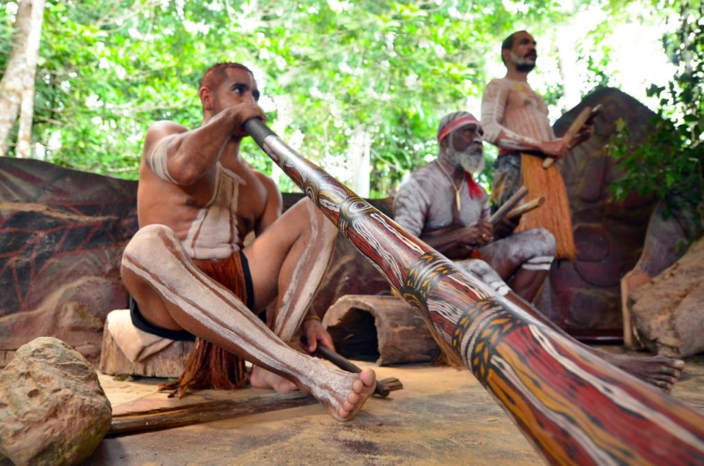 Australia where to visit-Yirrganydji Aboriginal men play Aboriginal music