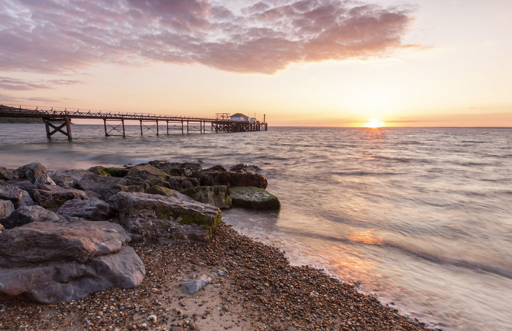 Isle of Wight Totland Sunset