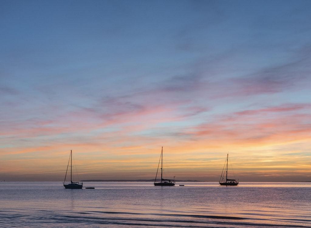 Isle of Wight Totland beautiful sunset
