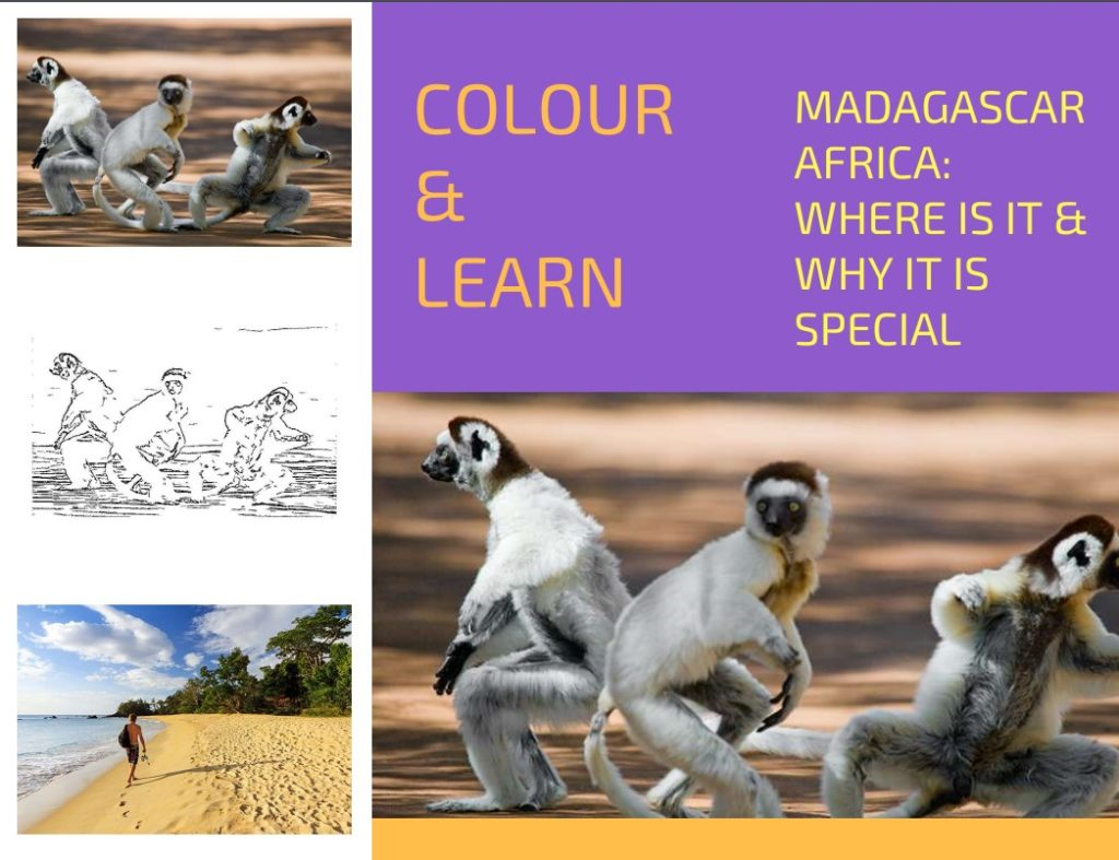 Madagascar Africa where is it free colouring page