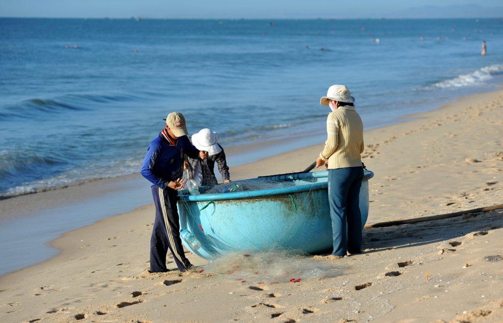 Mui Ne Vietnam fishermen