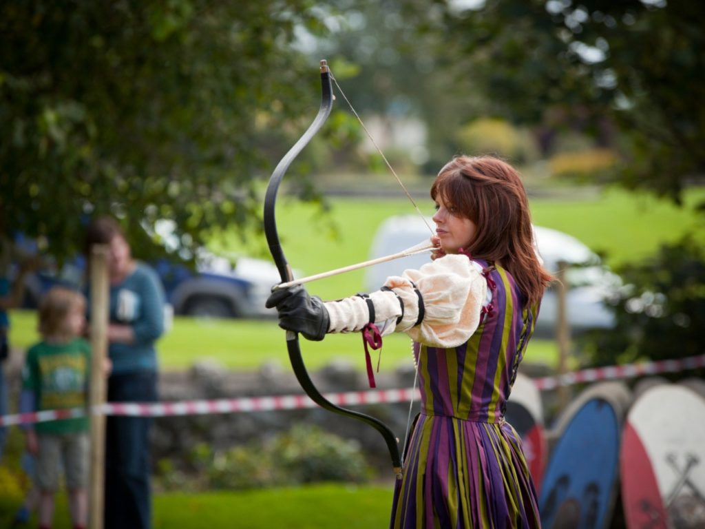 Archery at annual National Walled Towns Day on August 21, 2011 in Athenry