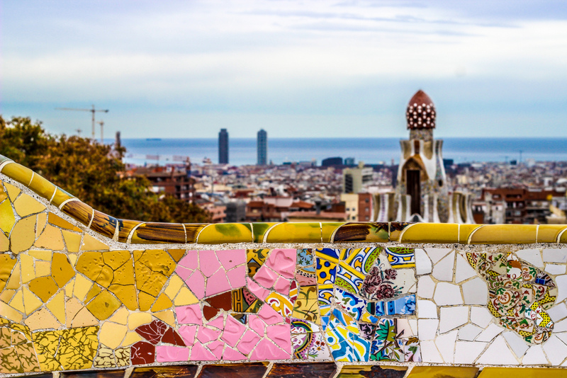 best route Madrid to Barcelona Parc Guell