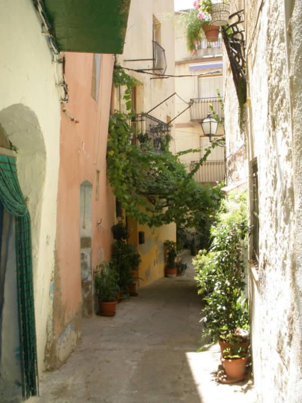 Benifallet Spain narrow street