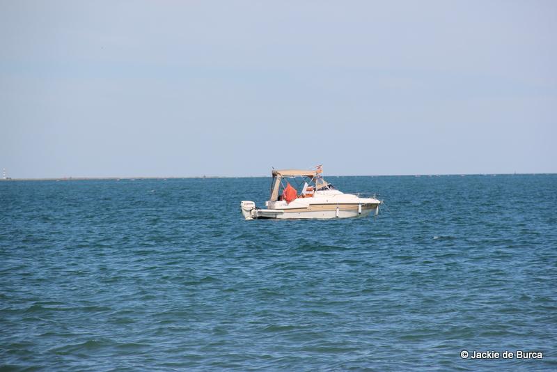 Les Cases d'Alcanar Boat at Sea