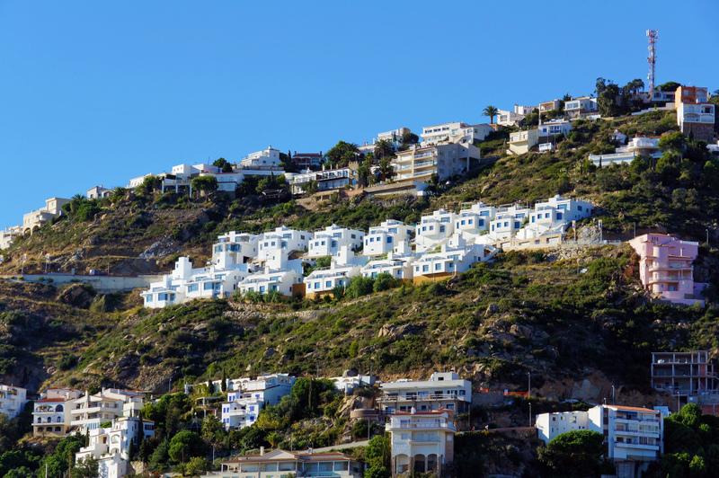 Rosas Costa Brava Houses Built Into Hill