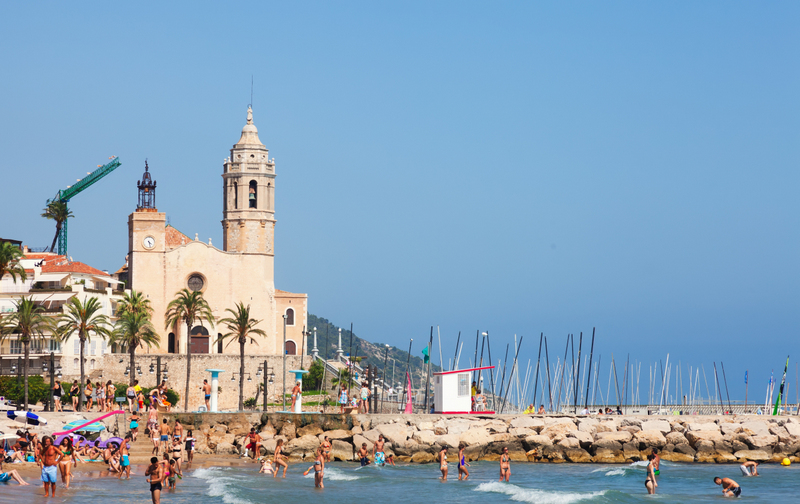 Sitges Beach & Church In Background ed6
